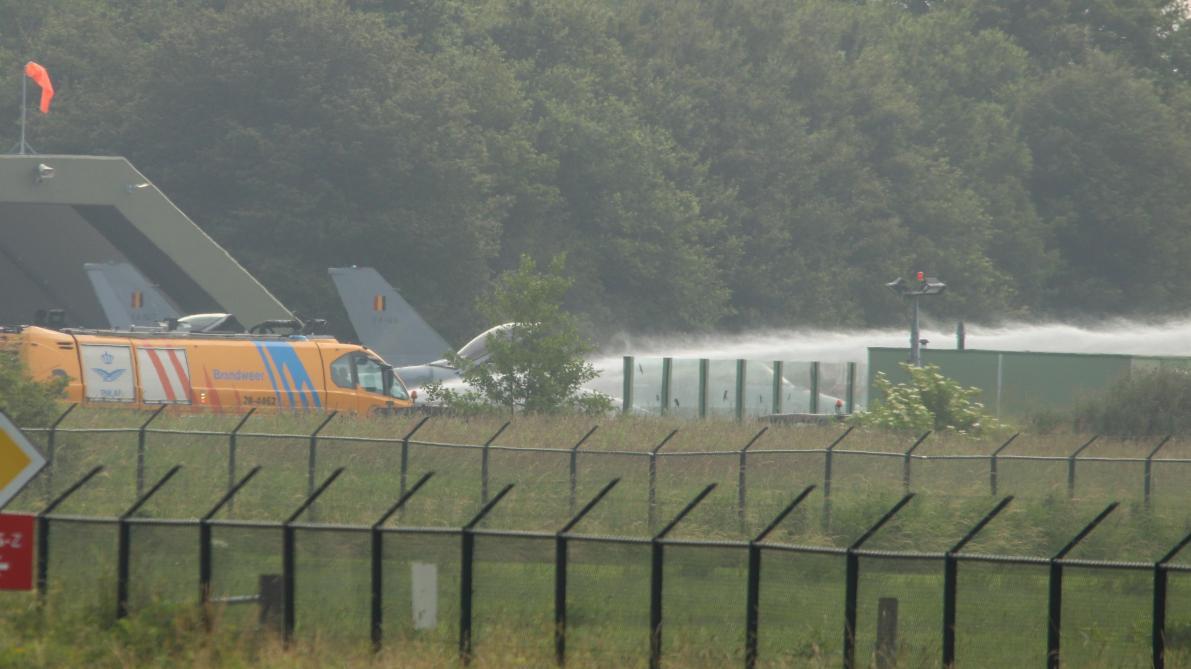 Belgique : destruction d'un F-16 au sol