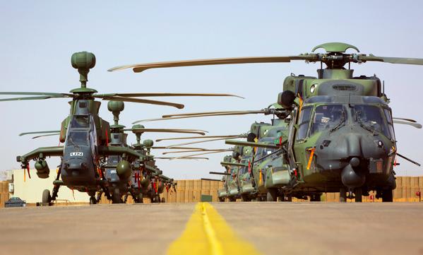 Crash d'un Tigre allemand au Mali