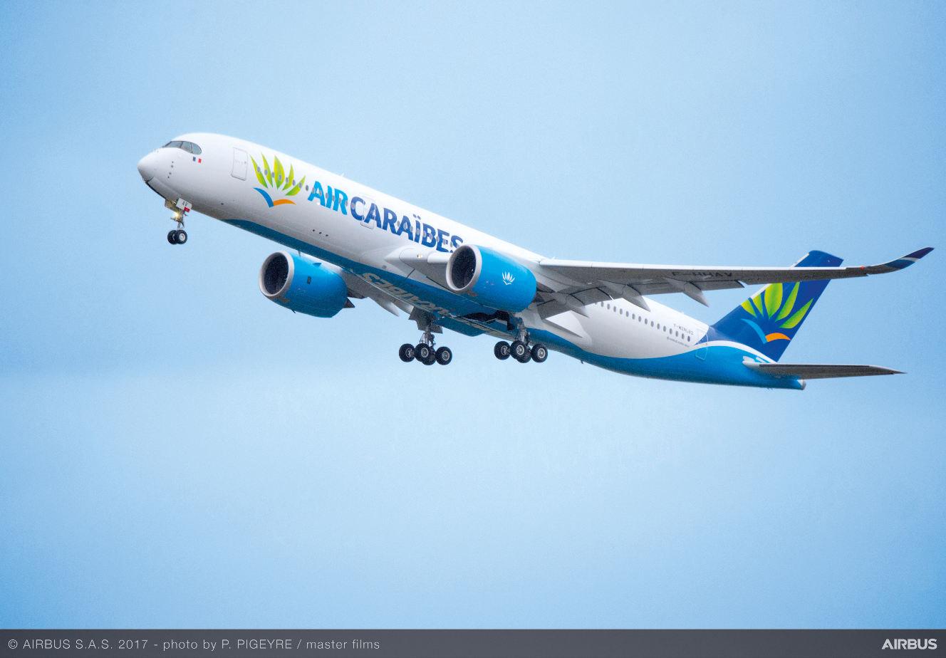 Le premier Airbus A350-900 d'Air Caraïbes prend les airs
