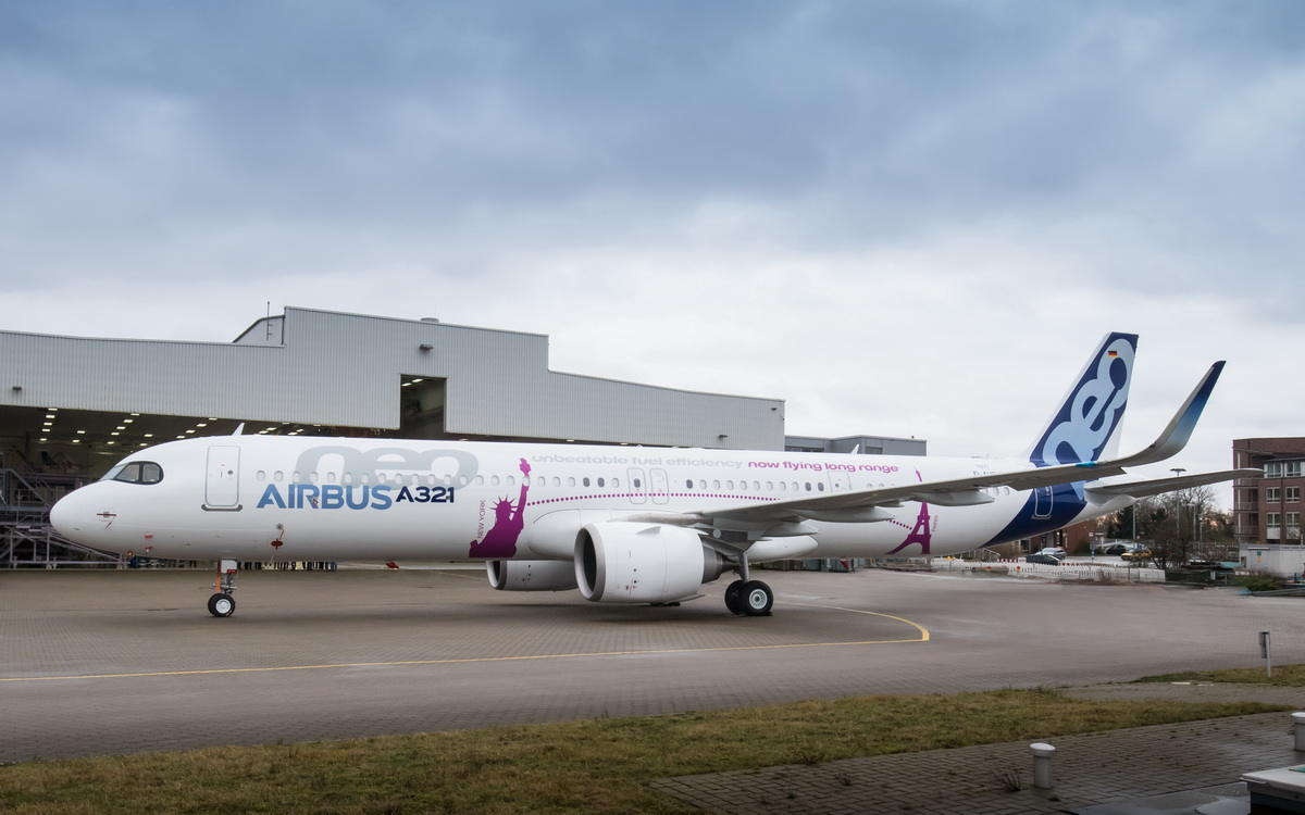 L'Airbus A321neo ACF fait son roll-out à Hambourg
