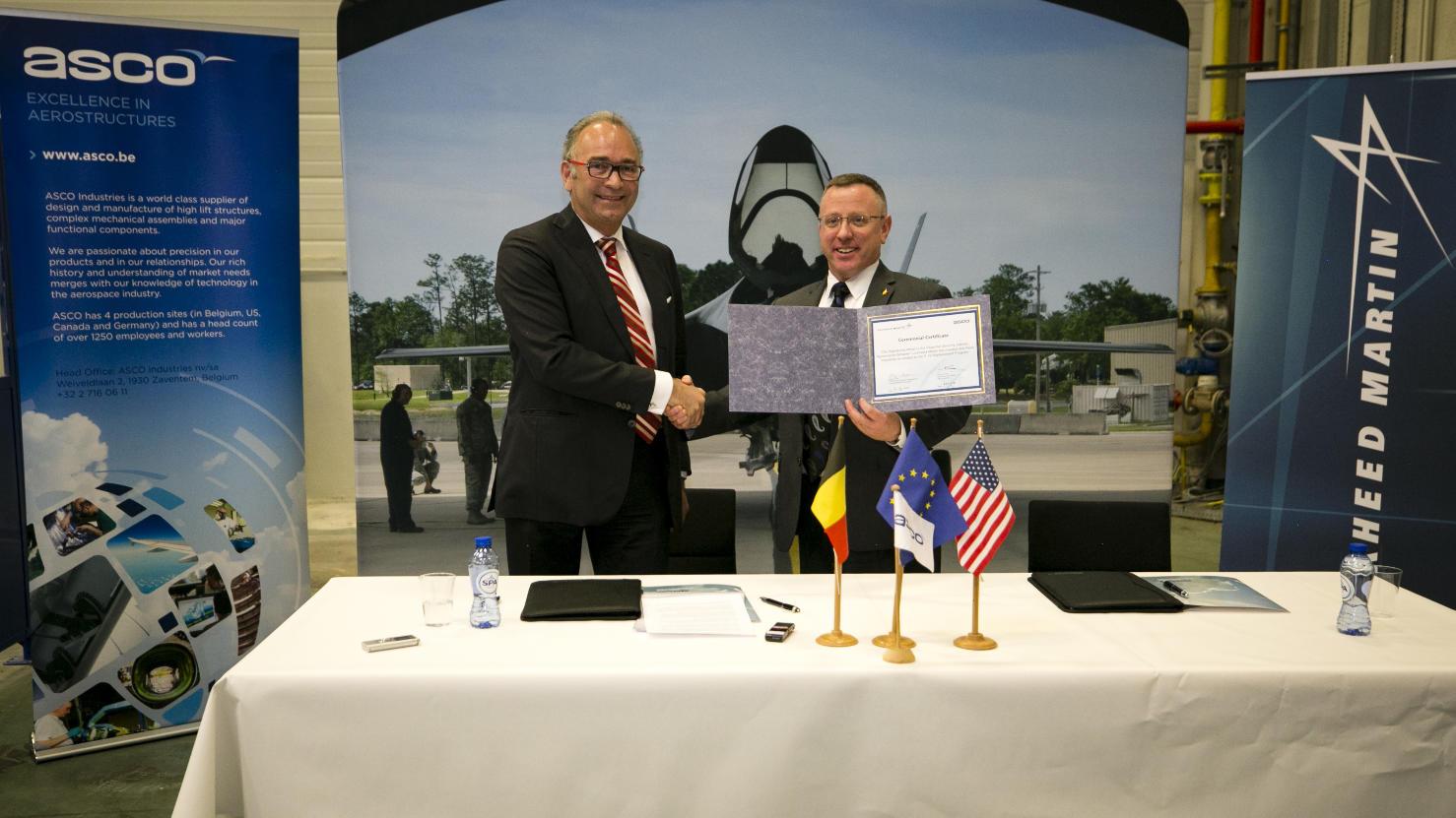 Signature d'un accord entre Lockheed et Asco pour le F-35