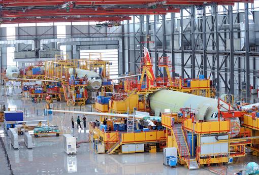 Airbus accélère à Tianjin
