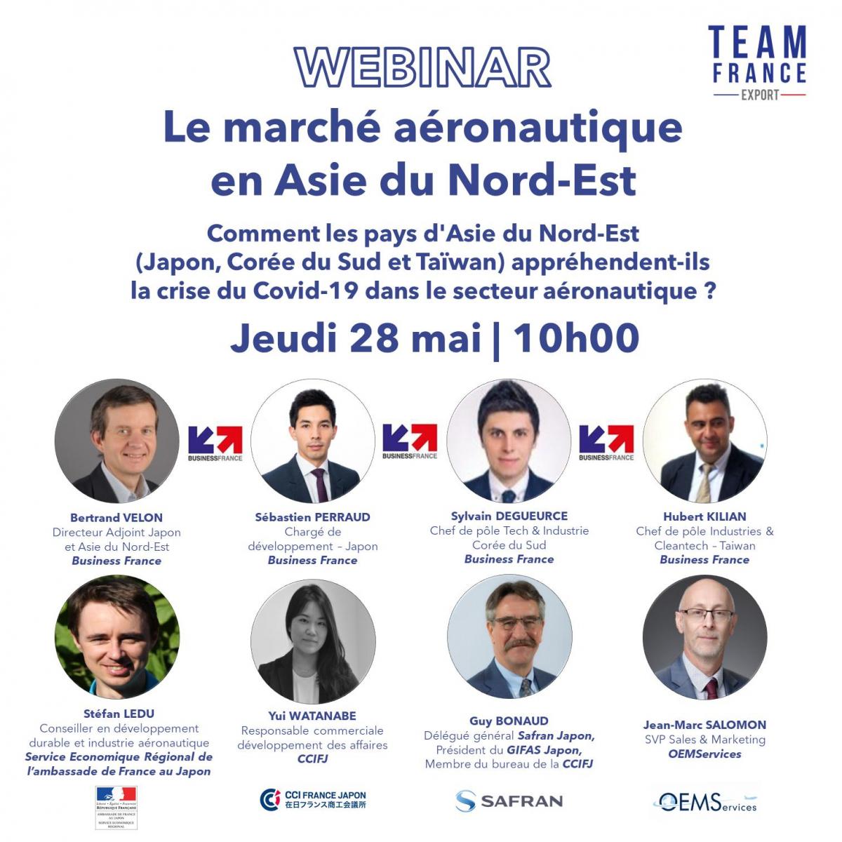 Le marché aéronautique en Asie du Nord-Est, webinar Team France Export jeudi 28 mai