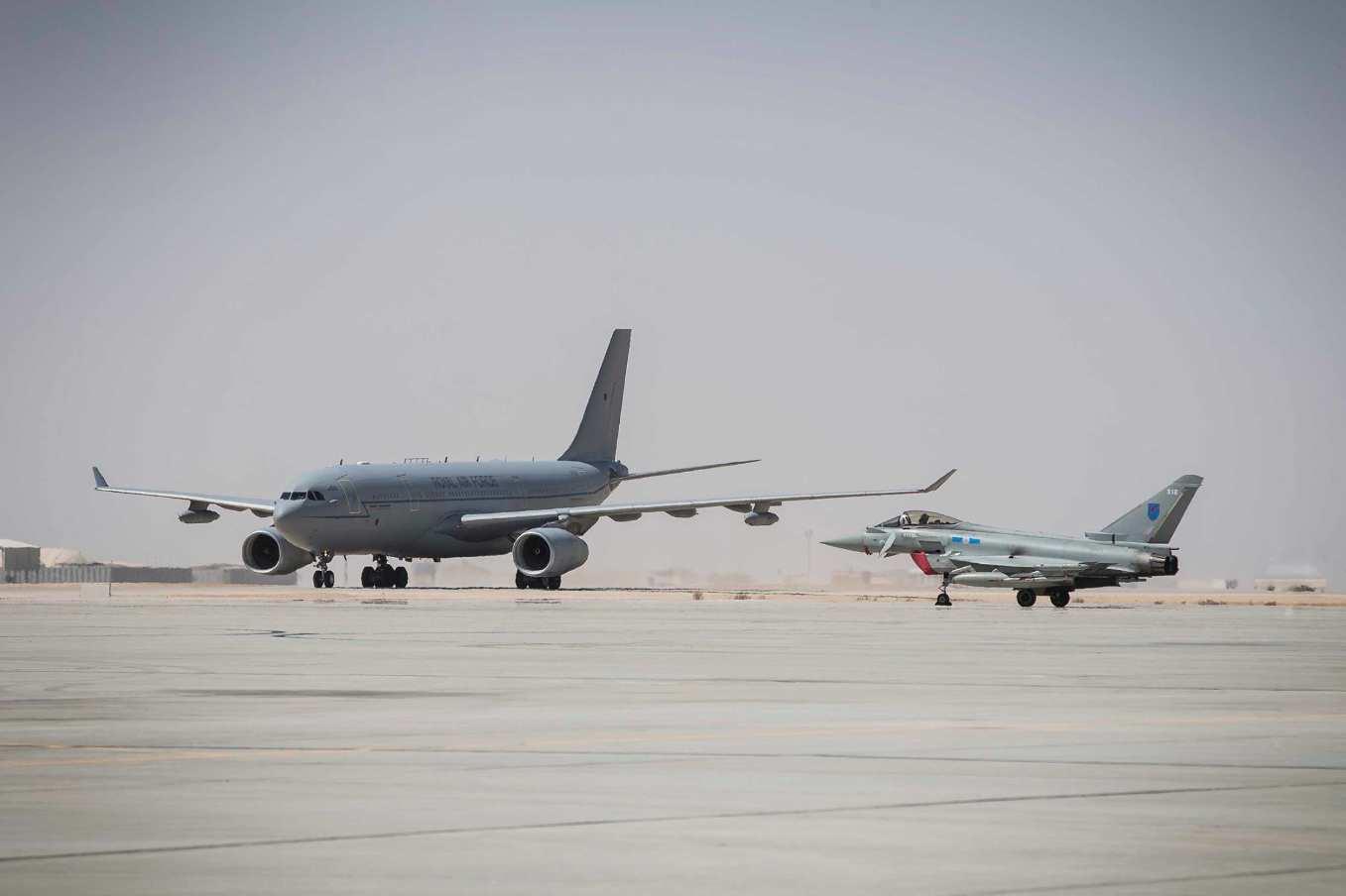 Les Typhoon britanniques s'entraînent à Oman