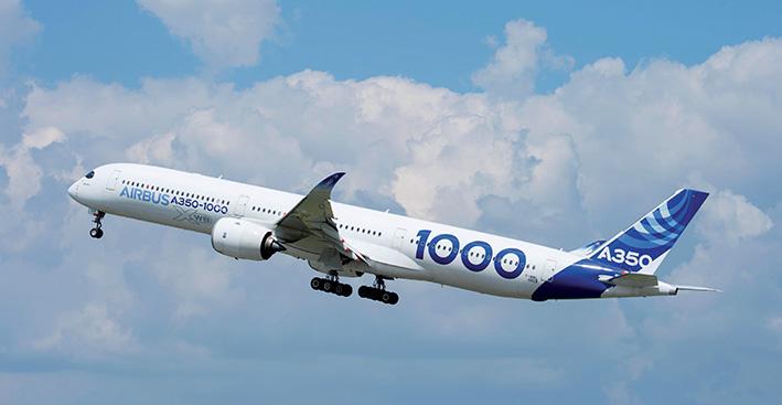 Aux commandes de l'Airbus A350-1000