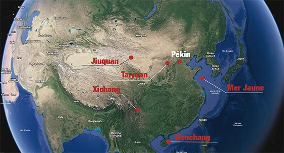 L'activité spatiale chinoise, base par base