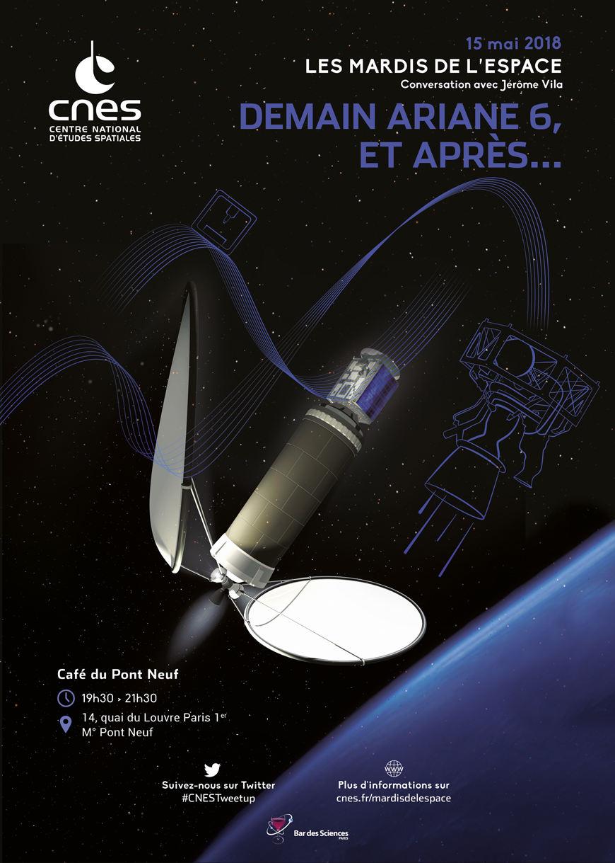 Mardi de l'espace spécial Ariane 6 le 15 mai à Paris