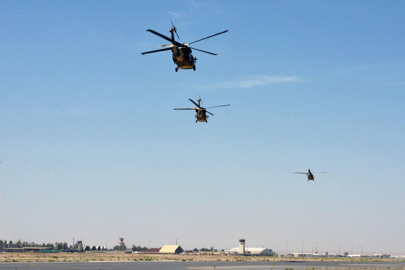 Afghanistan :  les UH-60 mènent leur première mission