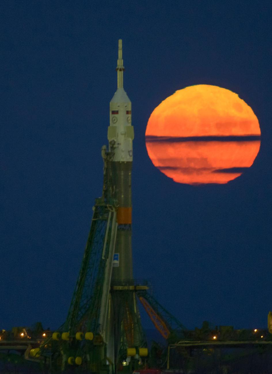 La super lune brille sur Baïkonour