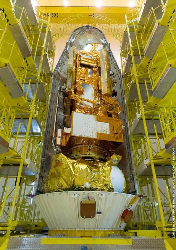 Arianespace et Soyouz: le satellite météo MetOp C prêt au départ
