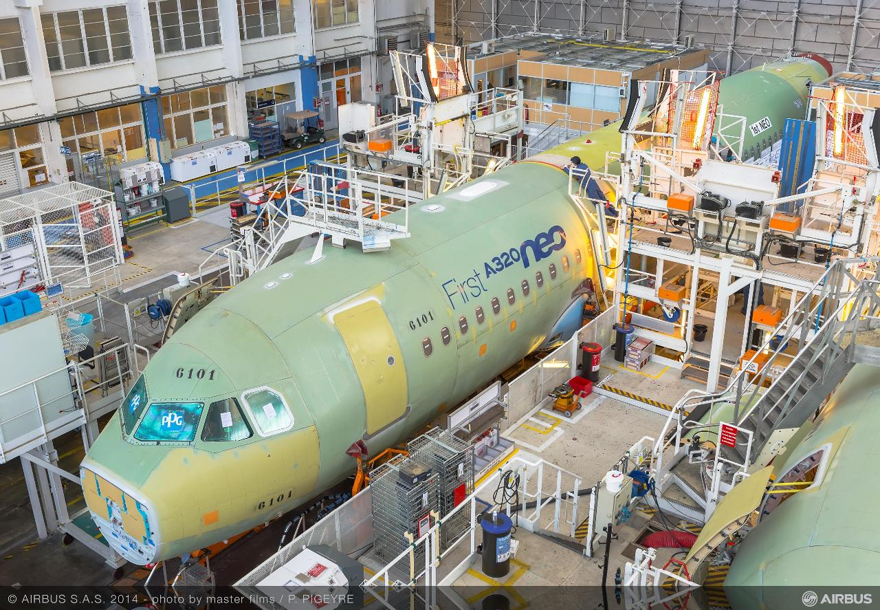 Airbus A320neo : 60 par mois à mi-2019