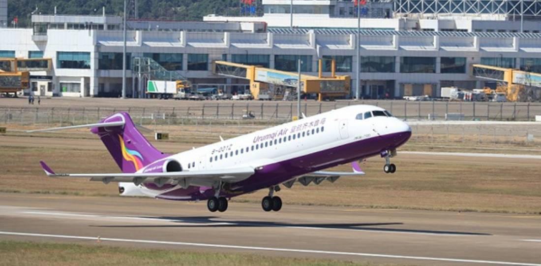 Sept opérateurs pour l'avion régional chinois Comac ARJ21