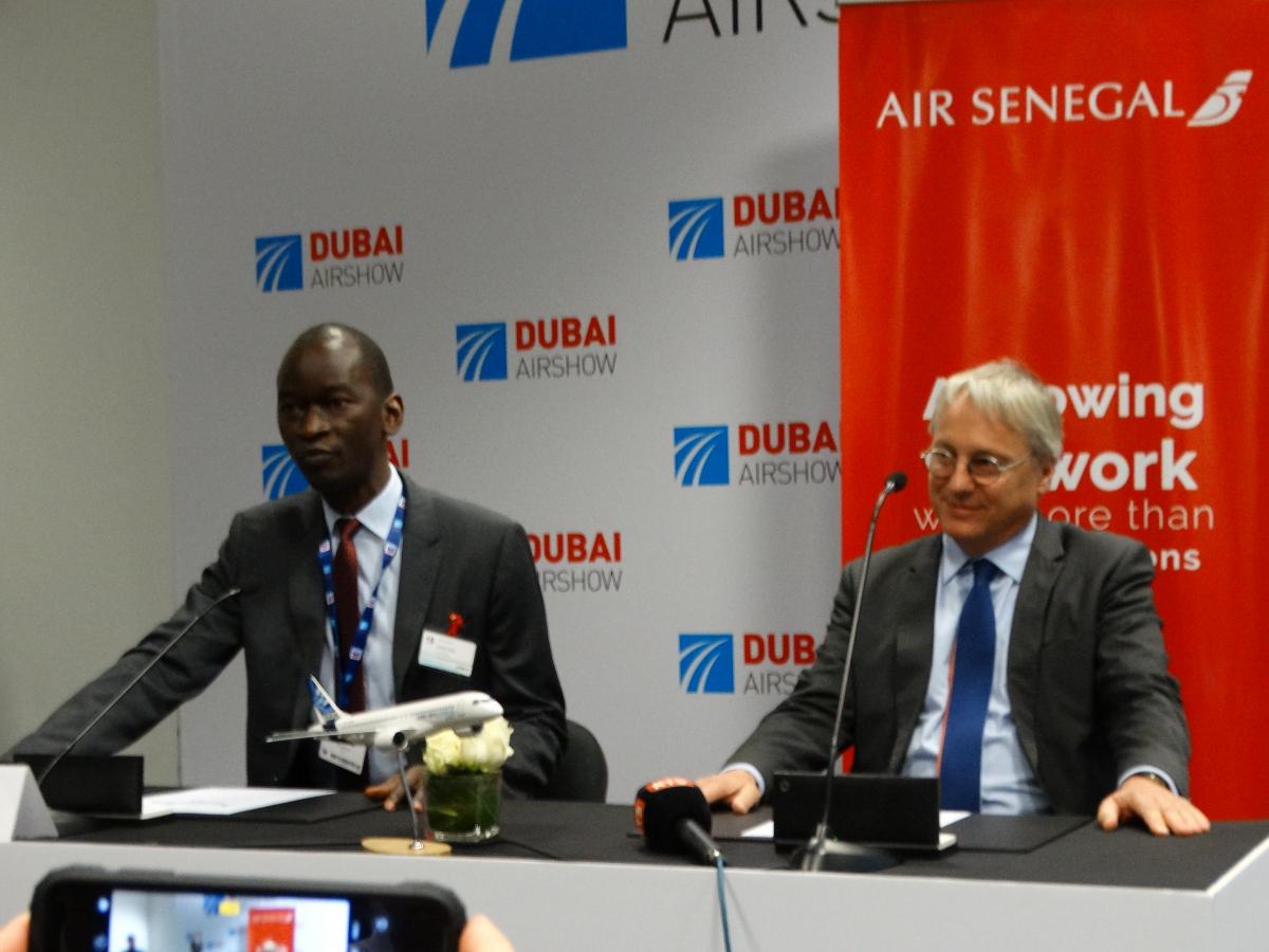 Dubai Airshow 2019 : Air Sénégal signe un MoU pour 8 Airbus A220