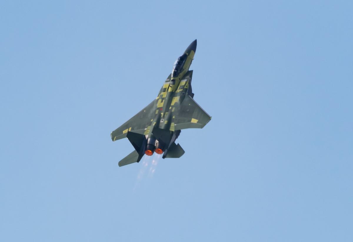 Premier vol du F-15EX destiné à l'US Air Force