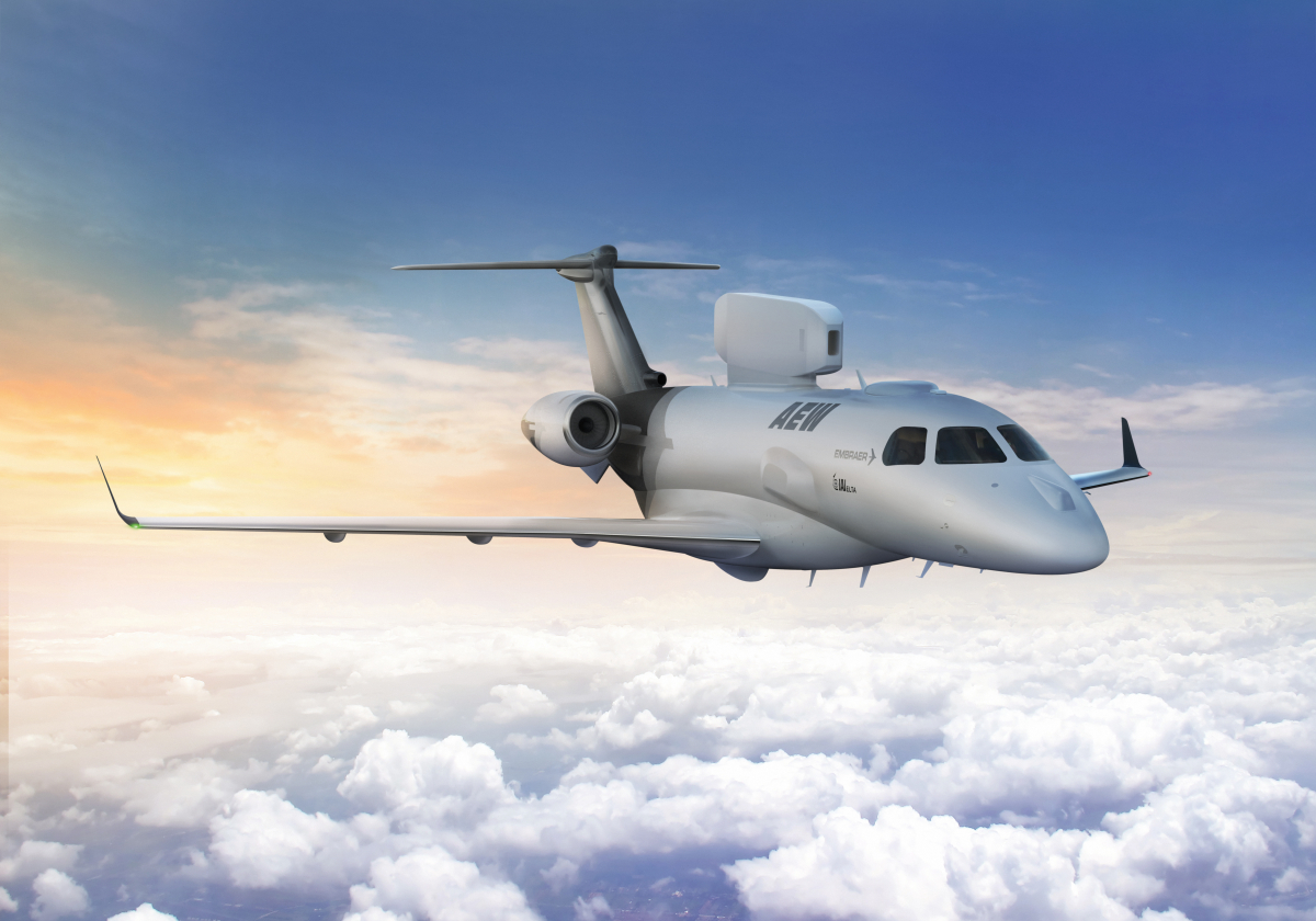 Bourget 2019: Embraer et Elta s'associent pour un avion AEW
