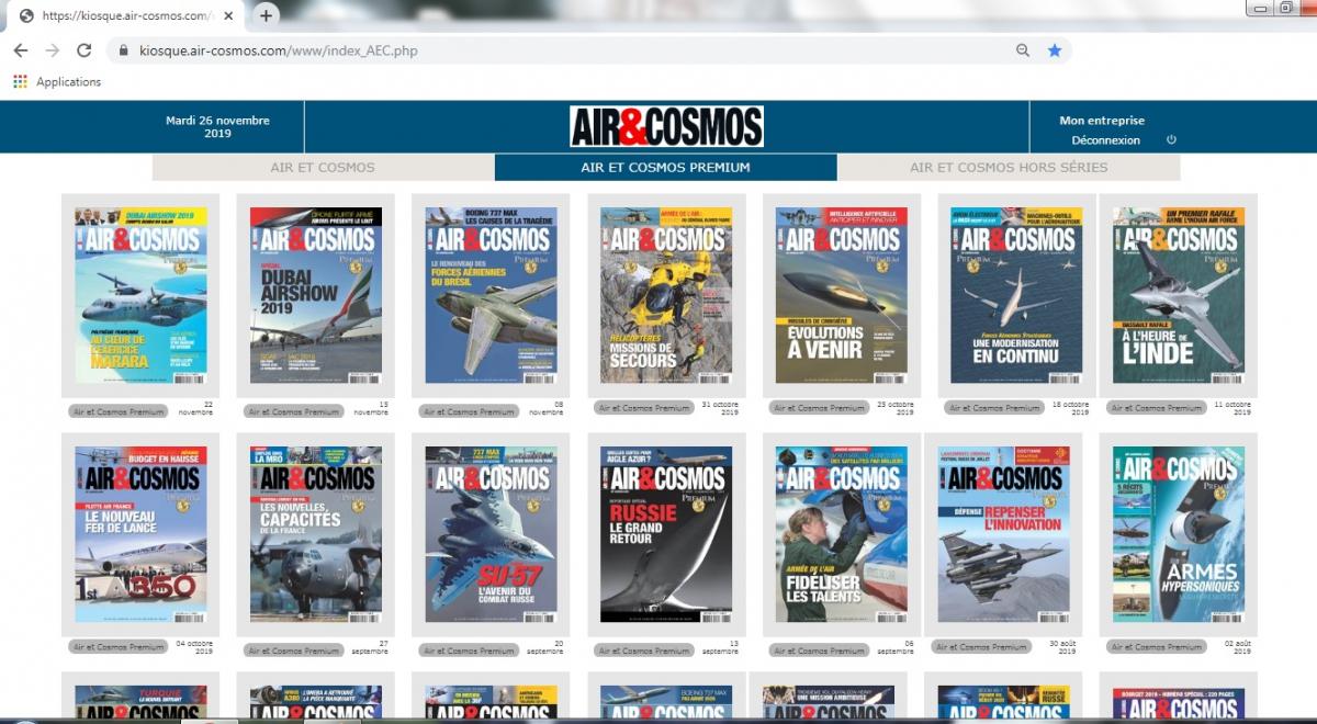 Air & Cosmos magazine lance son kiosque digital Premium