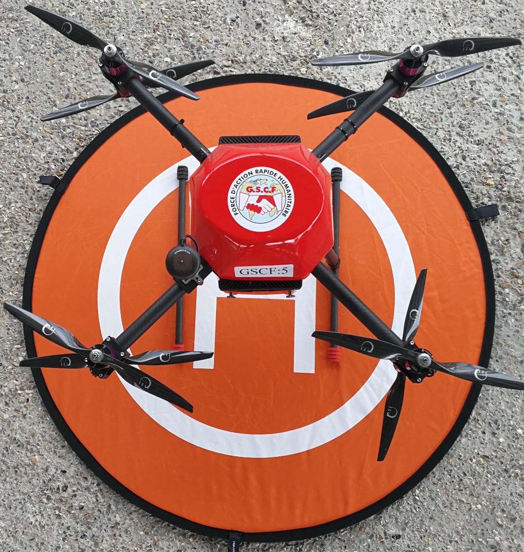 Parmi la flotte de 5 drones du GSCF, deux sont des OctoPush.