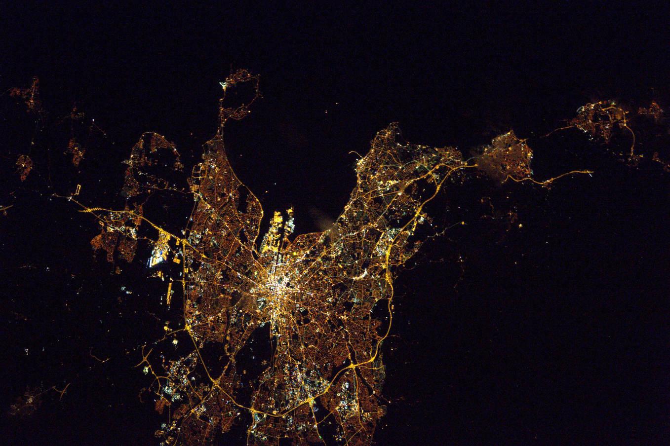 La Terre dans l'oeil de Thomas Pesquet #43 : Dublin la nuit