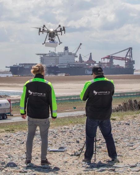 Livraison par drone au sein du port de Rotterdam