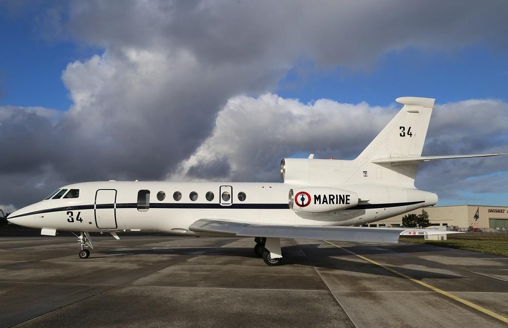 La Marine nationale dispose désormais de deux Falcon 50 Ms dotés de trappes de largage