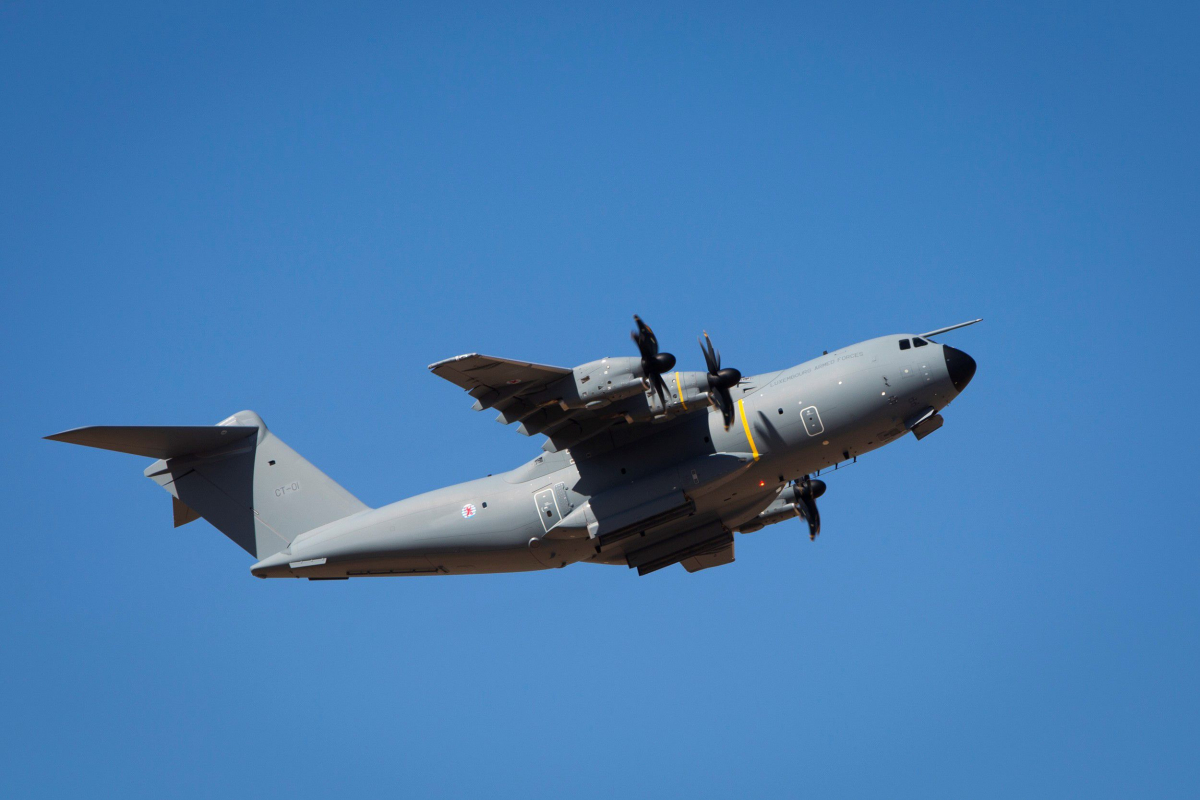 Airbus livre au Luxembourg son A400M
