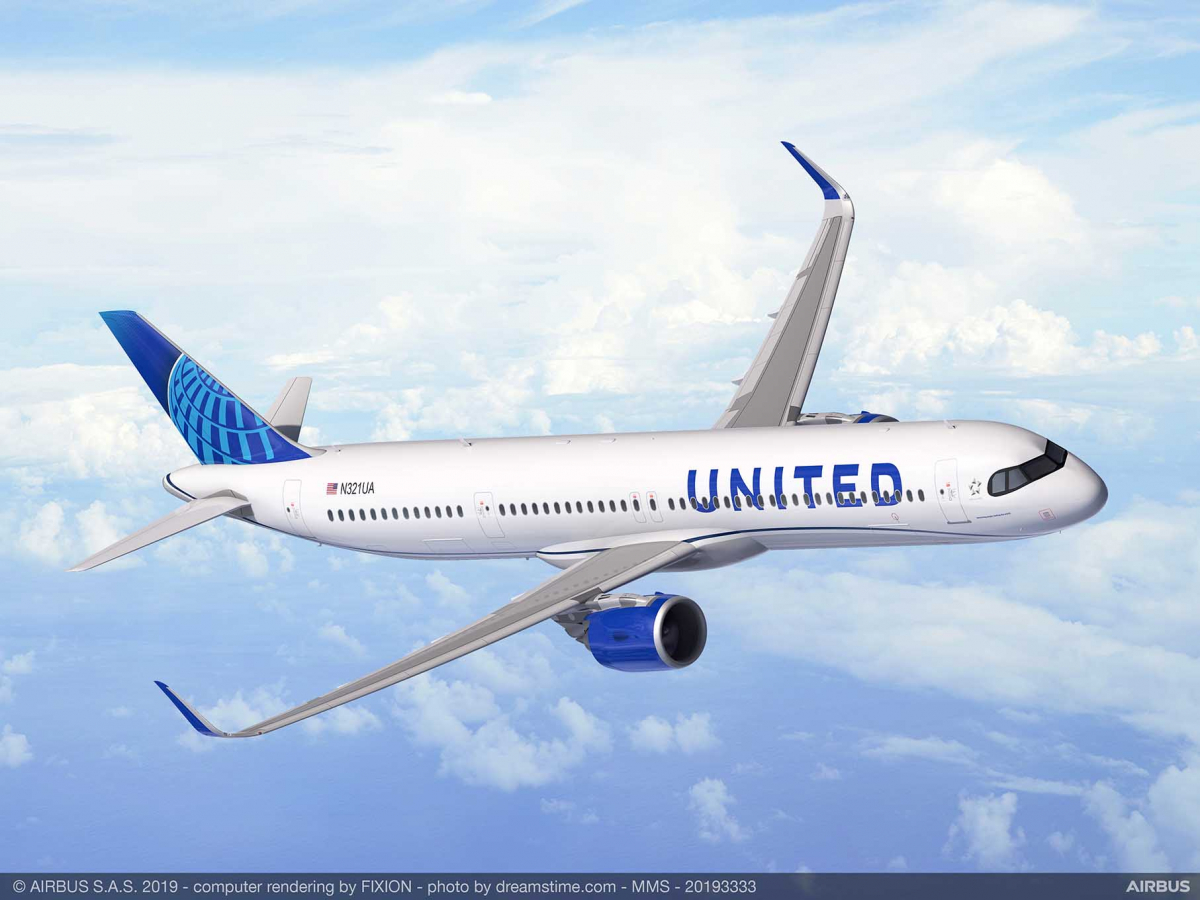 United Airlines commande 50 Airbus A321XLR