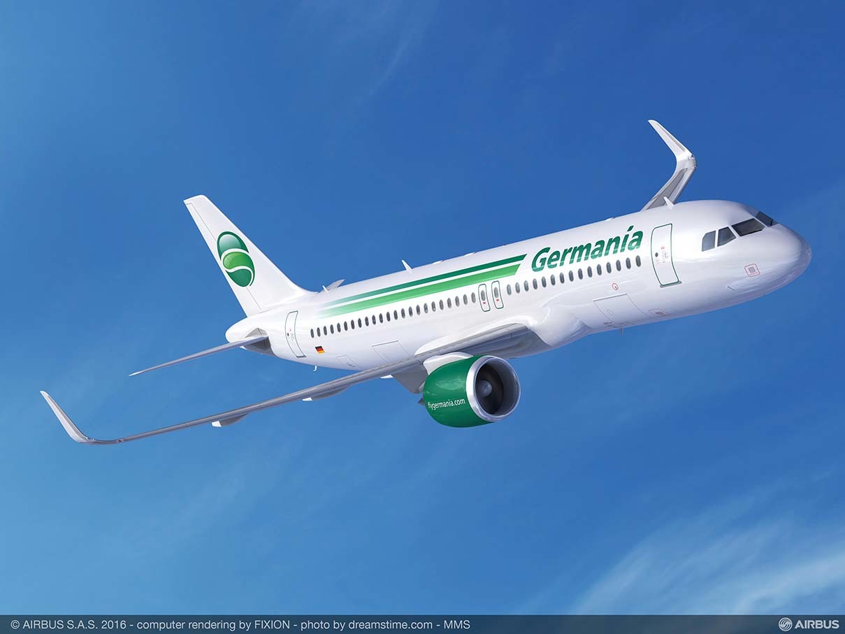 Farnborough 2016 : Germania passe à l'Airbus A320neo