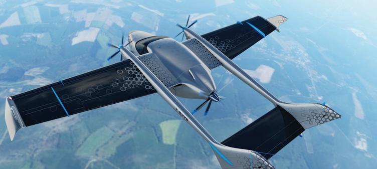 L'ENGINeUS de Safran propulse le banc d'essais Cassio 1 de l'avion hybride-électrique de VoltAero