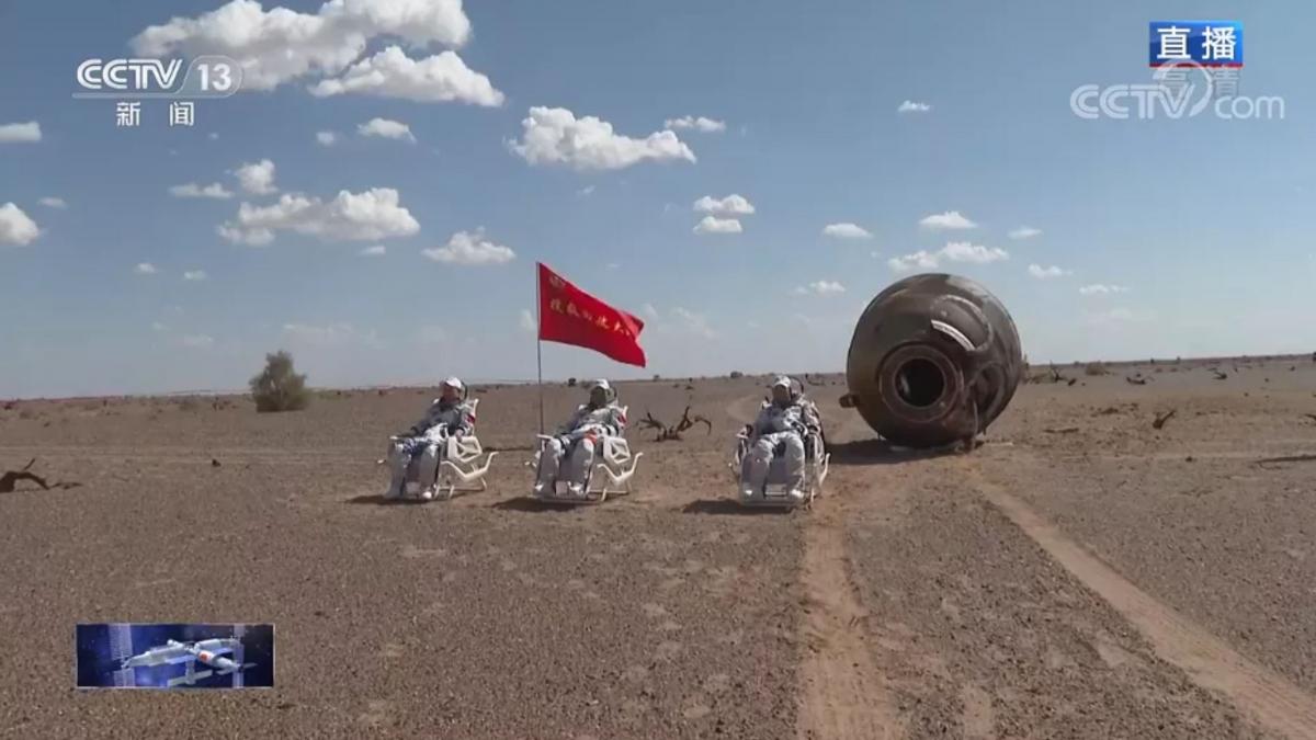 Retour des taïkonautes de Shenzhou 12 après trois mois de vol