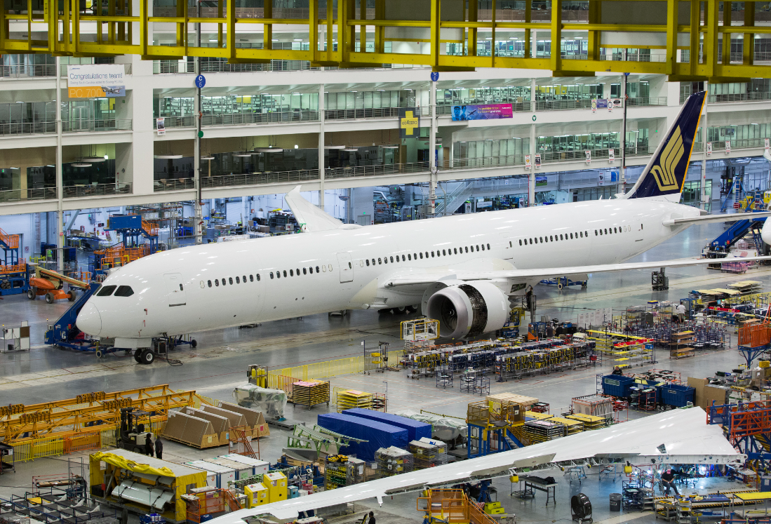 Boeing rolls out Singapore Airlines' first 787-10