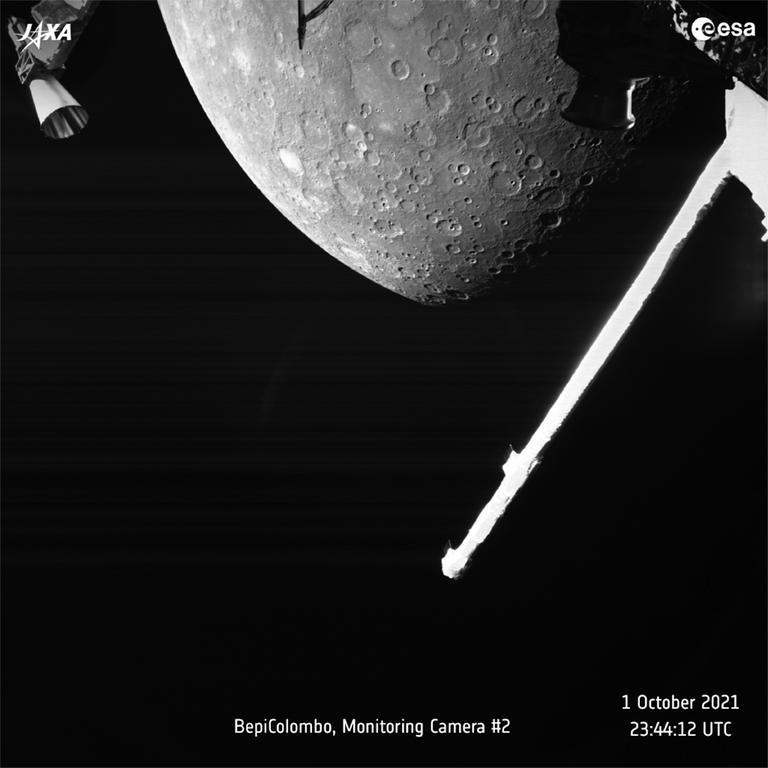 La sonde européenne BepiColombo réalise son premier survol de Mercure