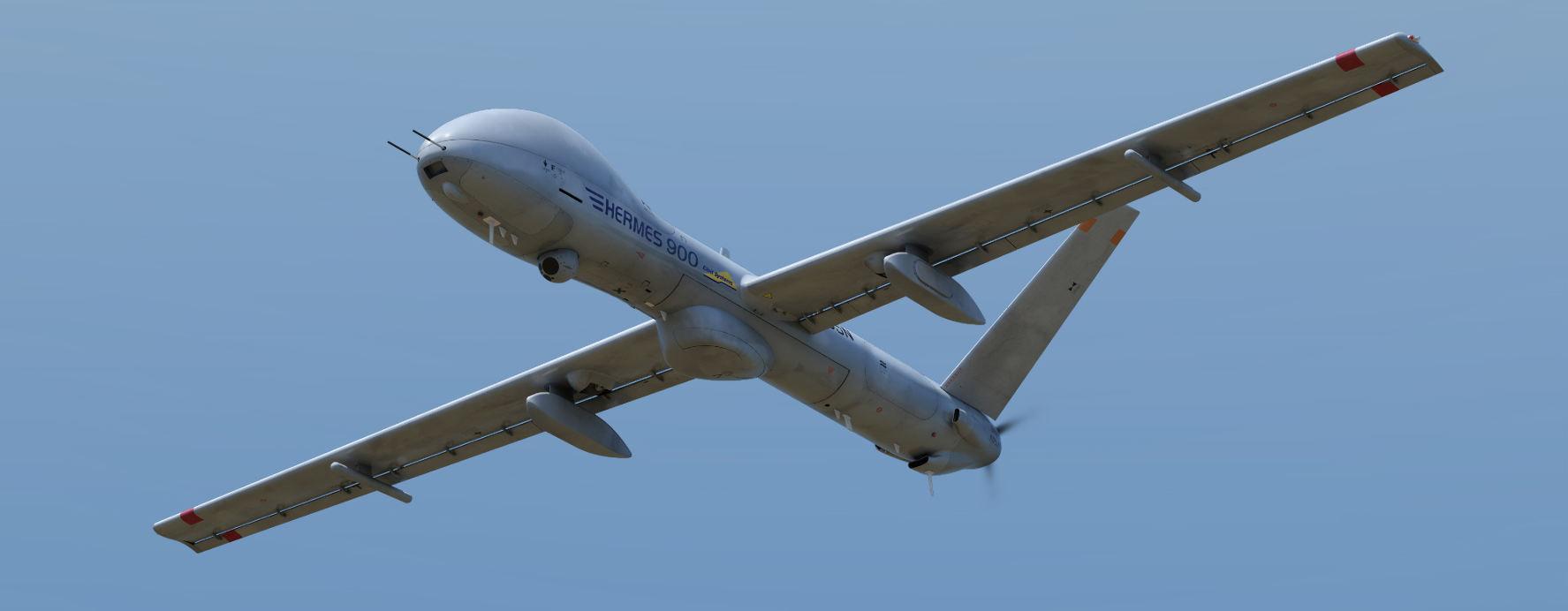 Le drone Hermes 900 au service de l'UE
