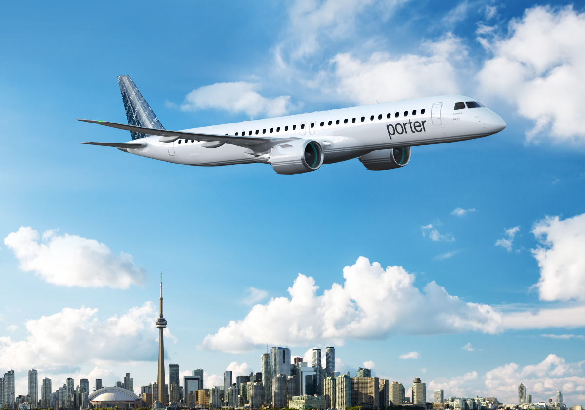 Porter Airlines confie sa MRO à Embraer
