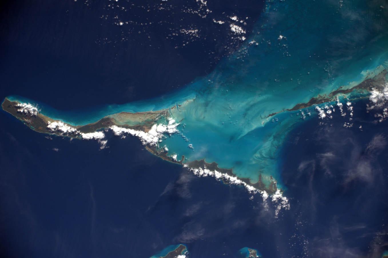 La Terre dans l'oeil de Thomas Pesquet #63 : Long Island, aux Bahamas