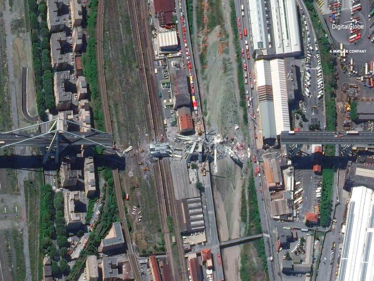 Le pont Morandi sous l'œil de World View 4