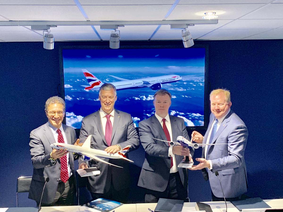 Signature du contrat de British Airways pour 18 B777X