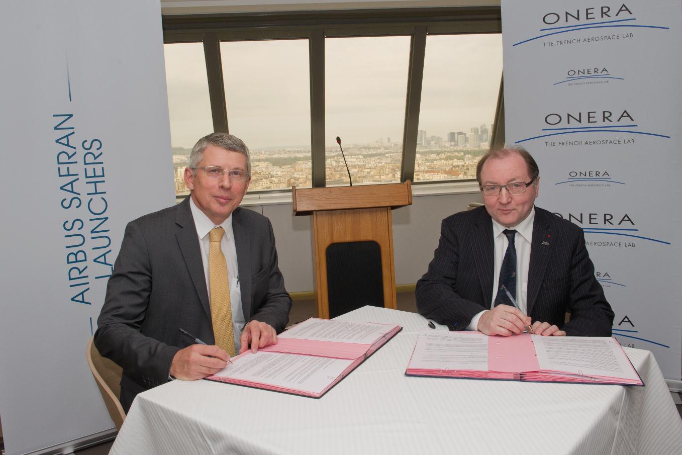 Airbus Safran Launchers et l'Onera renforcent leur coopération