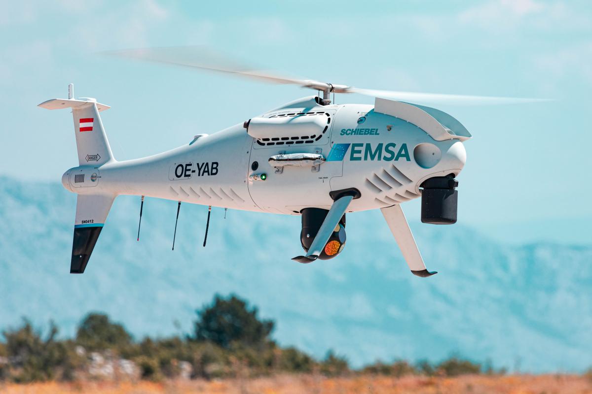 Première mission du S-100 au profit de l'agence européenne pour la sécurité maritime
