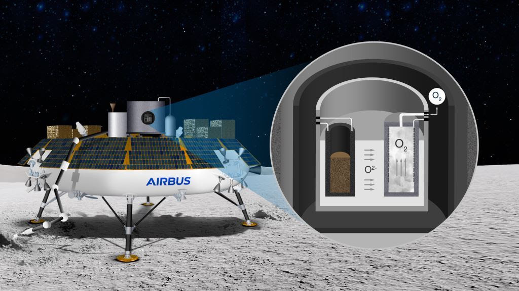 Lune : Airbus transforme la poussière en oxygène