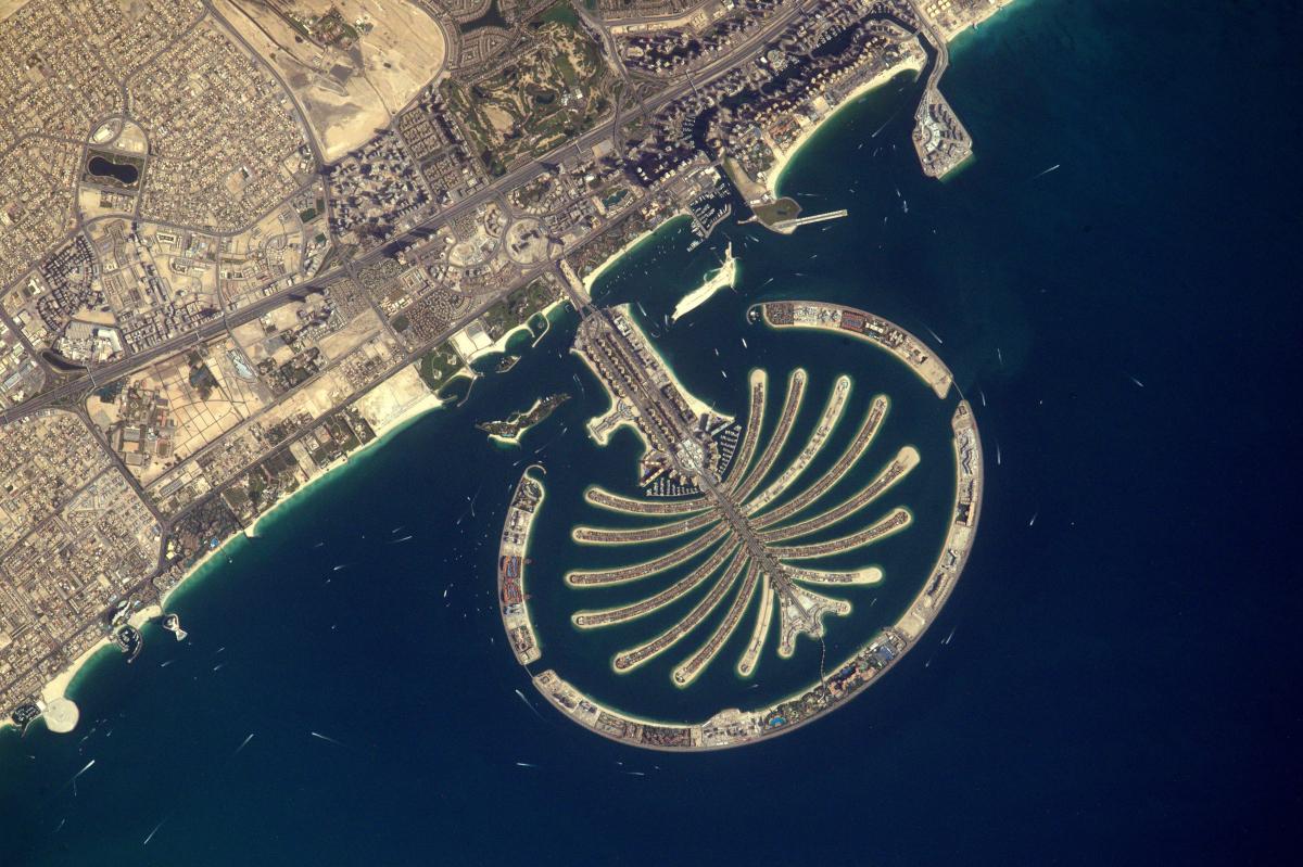 La Terre dans l'oeil de Thomas Pesquet, nouvelle saison : le Palmier Jumeirah