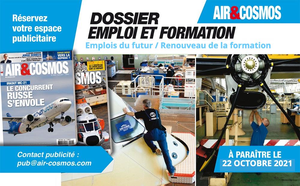 """Dossier """"Emplois du futur / Renouveau de la formation"""" à paraître le 22 octobre 2021 dans Air&Cosmos"""