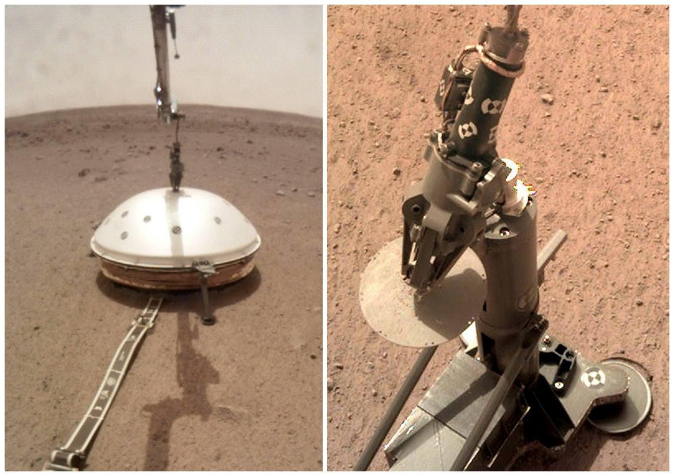 Déploiement des principaux instruments de la mission InSight sur Mars