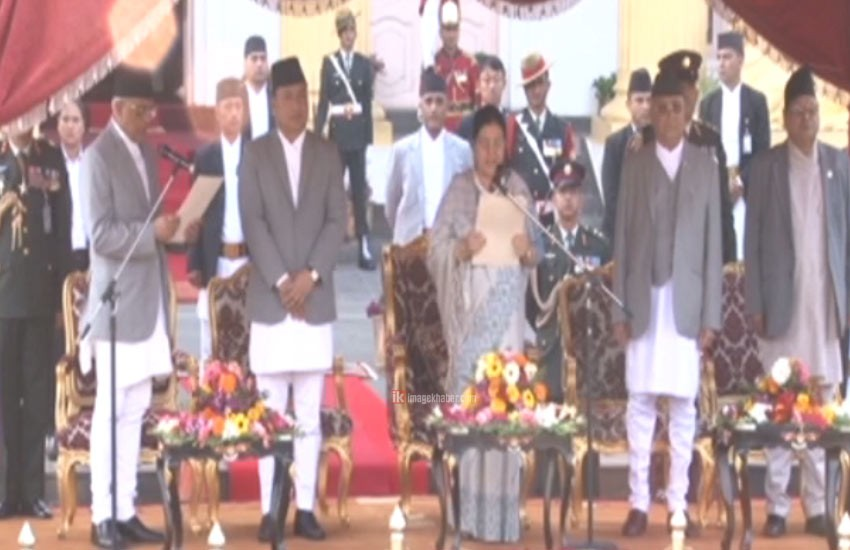 CJ Parajuli administers oath of office to President Bhandari