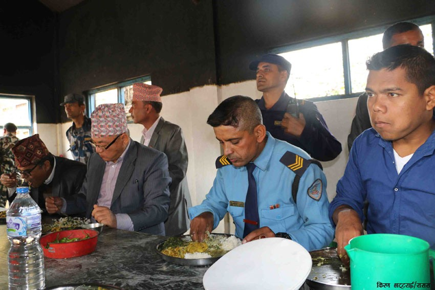 Home Minister pays surprise visit to Nepal Police metropolitan unit