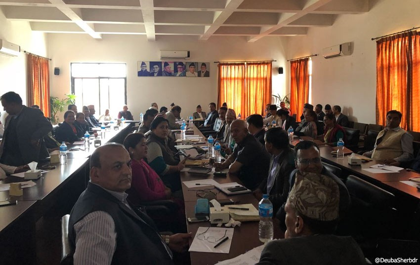 NC central working committee meet begins to review poll results