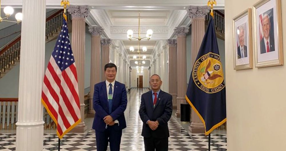 Tbetian leader meet us official in white house first time