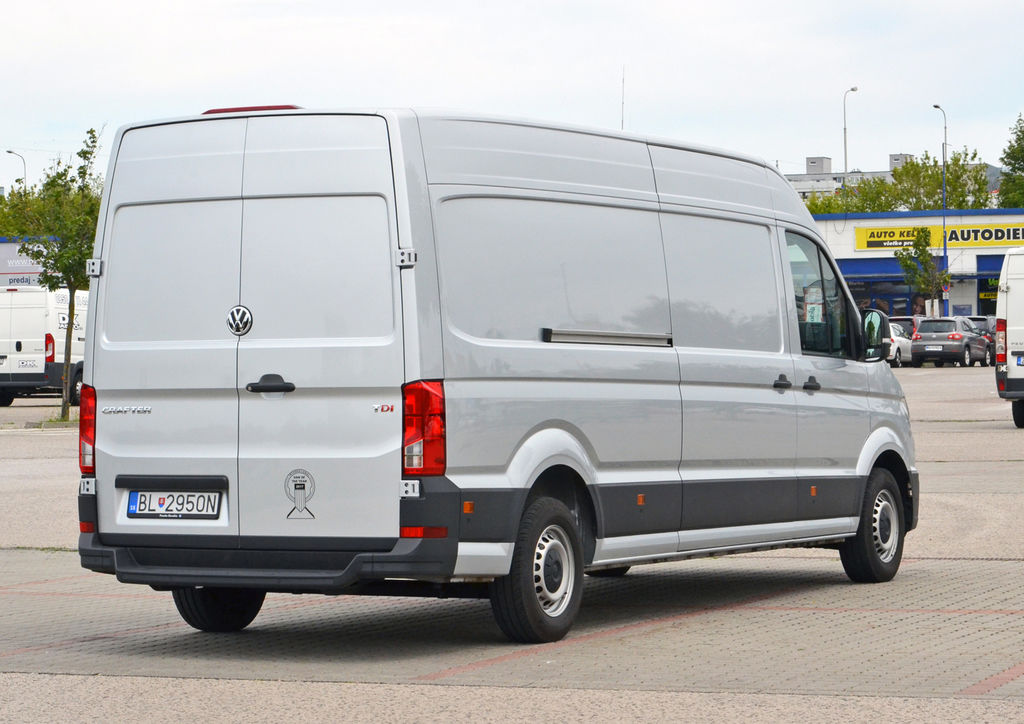 Content vw crafter test zadny