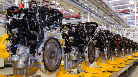 Thumb jaguar engine manufacturing center