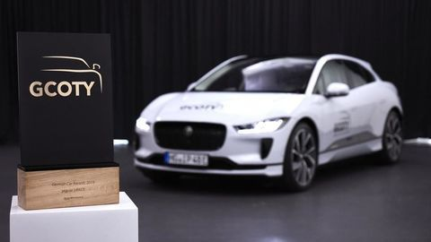 Thumb g coty 2019 jaguar i pace with german car of the year award   european model shown