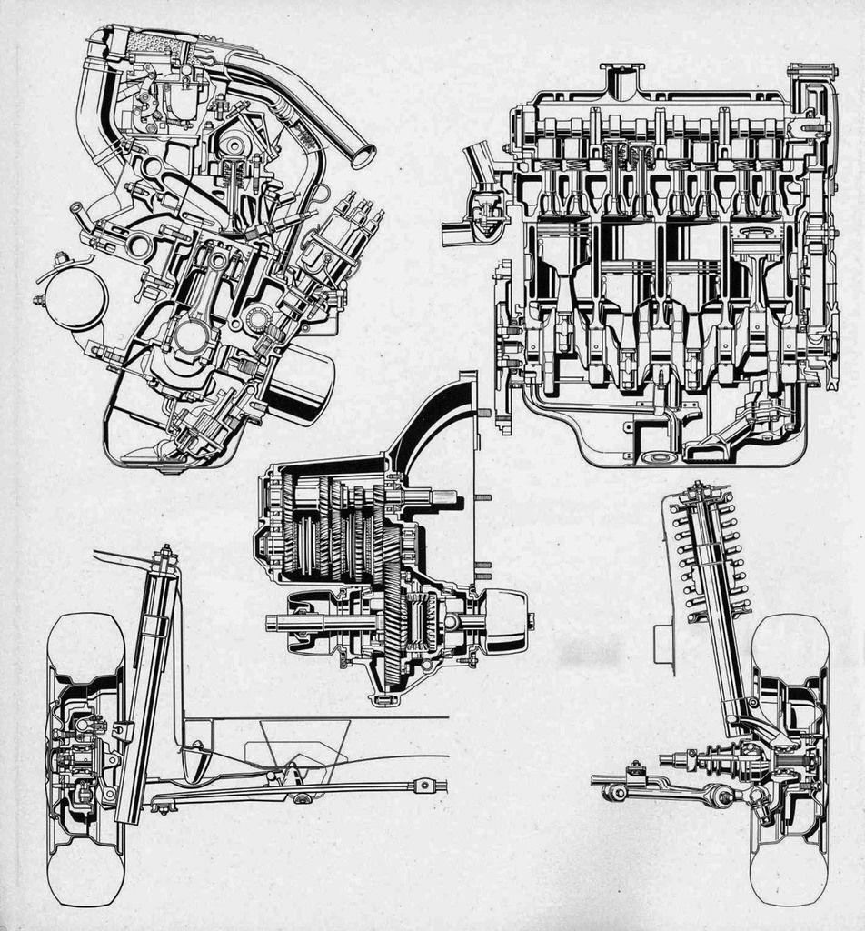 Content fiat 128 motore 2 viste cambio sospensione ant e post